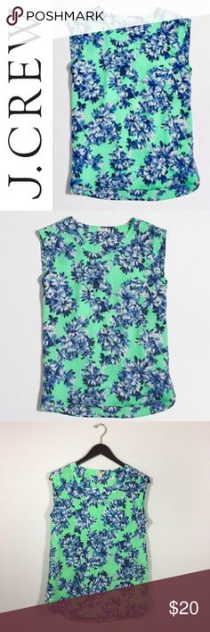 J. Crew Printed Drapey Sleeveless Top ✔️Beautiful Floral Pattern ✔️100% Polyester ✔️Excellent Condition J. Crew Tops