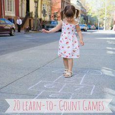 20 Counting games for preschoolers #preschool #edchat #educhat