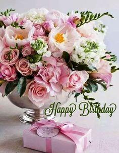 Happy Brithday, Happy Birthday Fun, Happy Birthday Greetings, Happy Birthday Flower Bouquet, Happy Birthday Flowers Wishes, Birthday Cards Images, Birthday Wishes And Images, Birthdays, Flower Arrangements Simple