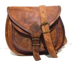 7e57adeb41ab Hobo Purse Women Vintage Brown Leather Messenger Cross Body Bag Handmade   fashion  clothing
