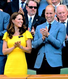 The Duke and Duchess of Cambridge attend day thirteen of the Wimbledon Tennis Championships at the All England Lawn Tennis and Croquet Club. ll 15 July 2018