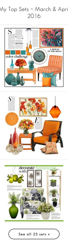 """""""My Top Sets ~ March & April 2016"""" by hastypudding ❤ liked on Polyvore featuring interior, interiors, interior design, home, home decor, interior decorating, Stanley Furniture, WALL, Diane James and Pillow Decor"""