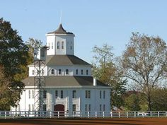 The Historic Round Barn at the Red Mile Harness Track in Lexington, Kentucky. Built in 1880 and financed in part by reparations paid to Lexington by the US Congress for damage done by Union troops during the Civil War
