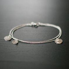 Bellissima  Silbermünze Armband von von elephantine auf Etsy, $32.00