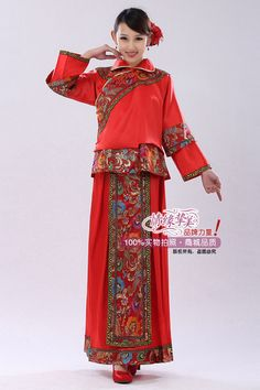 Chinese wedding toast dress studio costume Chinese marriage wedding the clothing embroidered Wo clothing costume toast