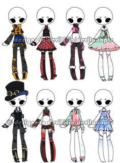 .:Adoptable:. Outfit Batch 13 [2/8] by DevilAdopts.deviantart.com on @DeviantArt