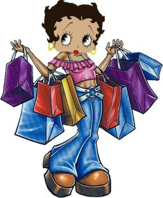 BETTY BOOP IMAGES. Betty, U went shopping, Did u buy me anything?