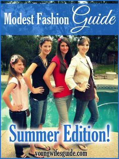 As the weather warms up, it can be tricky to beat the beat while still dressing modestly! Here's our Modest Fashion Guide: Summer Edition http://youngwifesguide.com/modest-fashion-guide-summer-edition/