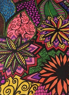 ColorIt Colorful Flowers Volume 1 Colorist: Joyce Morrison #adultcoloring #coloringforadults #adultcoloringpages #flowers