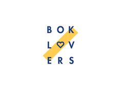 Boklovers designed by Buonodesign. the global community for designers and creative professionals. Typo Logo Design, Graphic Design Fonts, Graphic Design Studios, Brand Identity Design, Typography Logo, Web Design, Logo Branding, Logo Inspiration, Logo Type