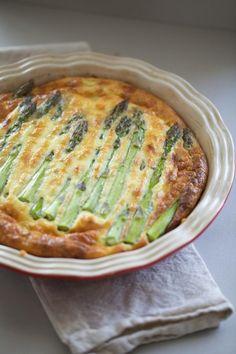 Heerlijke quiche met groene asperges.Ook lekker voor met Pasen