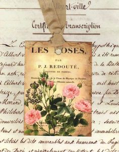 Les Roses French Gift Tags  by Bluebird Lane