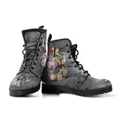 90s Boots, Goth Boots, Pink Boots, Women's Boots, Black Boots, Alice In Wonderland Gifts, Hippie Boots, Combat Boots Style, Kawaii Shoes