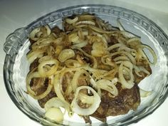 Baked Chops With Onions recipe by Rookaya Onion Recipes, Steak Recipes, African Spices, Chicken Spices, Food Categories, Tray Bakes, Onions, Oven, Stuffed Peppers