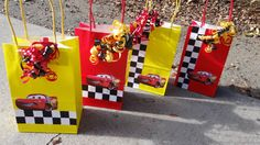 12 Cars Birthday Party Favor Bags by FantastikCreations on Etsy