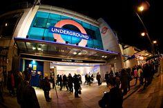 Brixton tube, classical music all down the escalators