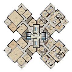 7 Modern House Plans Samples – Modern Home Building Layout, Building Plans, Building Design, Building Concept, Residential Building Plan, Residential Architecture, Hotel Floor Plan, House Floor Plans, Architectural Floor Plans