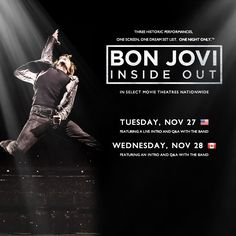 Bon Jovi Concert Film to Play in Theaters November 27