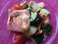 FATTOUSH SALAD WITH GRILLED HALLOUMI CHEESE (add romaine if desired)