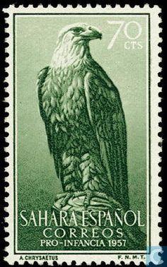 1957 Spanish Sahara - Stone Eagle