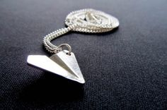 Papierflieger Kette Halskette Miniblings 45cm Origami Flugzeug Harry Styles