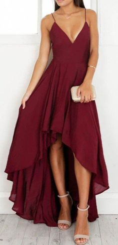 Burgundy Wine Red Prom Dresses Halter Sleeveless Hilo Evening Dresses Long Party Gowns Vestidos sold by loverlovebridal. Grad Dresses, Ball Dresses, Homecoming Dresses, Evening Dresses, Dresses To Wear To A Wedding, Dress Prom, School Dance Dresses, Dinner Dresses, Straps Prom Dresses
