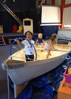 Schip ahoy! Ajaj kapitein! (stuur = door kapitein zelluf gemaakt)