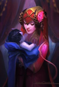 shalizeh7, Jester and her mom