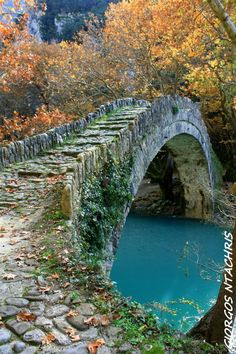 BEAUTIFUL TREES AND FLOWERS PICTURES - Ancient Stone Bridge, Epicurus, Greece