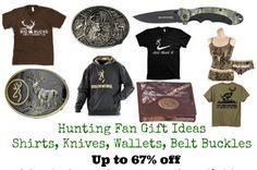 Camo gift ideas HUNTING FAN GIFT IDEAS SHIRTS, KNIVES, WALLETS, BELT BUCKLES