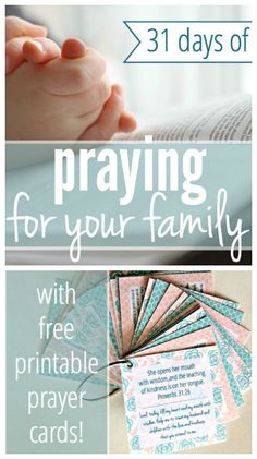 31 Days of Praying For Your Family - with free printable prayer cards! from Kayse Pratt