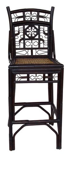 "Nassau Bar or Counter Stool Cottage & Bungalow.com $708 18""W x 42""H x 23"" deep with 23.5"" seat height. Pewter (dark grey), French gray (beige) plus other colors"