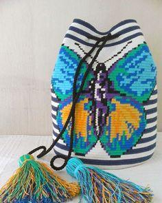 Wayuu Mochila bag butterfly #wayuubag