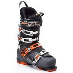 Nordica Hell and Back H3, Anthracite Orange. These were the boots I rented at Bettmeralp last winter, and I felt very comfortable skiing in them.  They cost 331 CHF on Galaxus: https://www.galaxus.ch/en/s3/product/nordica-skischuh-hell-back-h3-anthracite-100-ski-boots-2351506?tagIds=261-362
