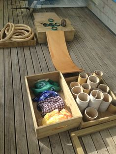 Natural materials as provocations for outdoor play