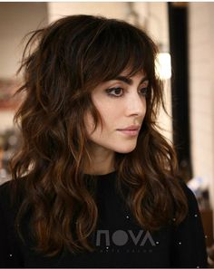 15 Cute Haircuts That Will Inspire You to Chop Your Strands Right This Second Haircut 1 jpgSexy Texture anyone? Color Cut/Style byMane: (n.) A head of distinctly long, thick hair. Hairstyles With Bangs, Straight Hairstyles, Natural Wavy Hairstyles, Medium Shag Hairstyles, Fall Hairstyles, Beach Hairstyles, Blonde Hairstyles, Christmas Hairstyles, Everyday Hairstyles