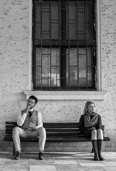 Mad #photography #couple #mood #location #trainstation #vintage #retro #fashion #men #women