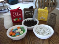 Crochet Fruit Loops Breakfast Set Made to Order by beccabeargirl