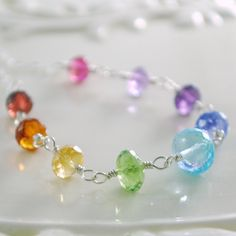 Rainbow Necklace for Girls