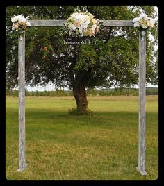 Wedding Arch Arbor Rustic Complete Kit Indoors Or Outdoors Country Backdrop Weatherd Gray Shipping Included