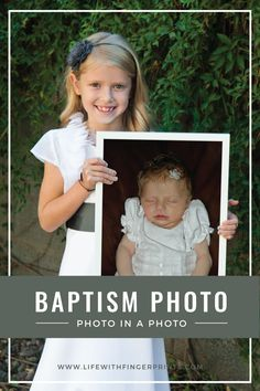 An idea: take a picture at baby's baptism, then First Communion holding baptism picture, then Confirmation holding Communion/Baptism photo. wedding, holding Confirmation/Communion/Baptism, and so on. First Communion Party, First Communion Dresses, First Holy Communion, Baby Baptism, Christening, Ideas Bautismo, Baptism Pictures, Baby Dedication, Baby Blessing