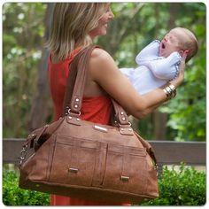 Vanchi Florence Traveler in Tan / Diaper Bag