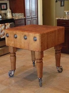 95 best butcher block tables images on pinterest butcher blocks i found this solid vintage butcher block at a fantastic price cleaned it up and now it has a prominent place in my kitchen watchthetrailerfo
