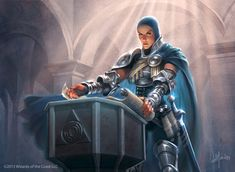 Lavinia of the Tenth, Magic: The Gathering. Art by William Murai. #paladin #fighter