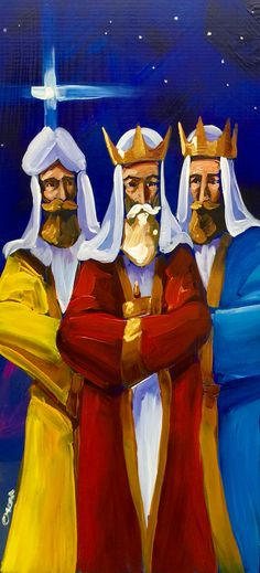 Reyes magos al óleo sobre madera. Artesanía de Puerto Rico. Puerto Rican Power, Puerto Rican Christmas, 3 Reyes, We Three Kings, Puerto Rican Culture, Christian Artwork, Enchanted Island, Xmax, Three Wise Men