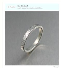 Dramatic 3mm Fine Hammered Stackable Silver Band Ring  Showcased by #EtsyGifts #EngagementRings #Hancrafted https://www.etsy.com/listing/168876177/3mm-fine-hammered-stackable-silver-band