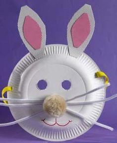 Easter bunny mask  http://baptismalgownsplus.wordpress.com/2013/03/23/easter-fun/#