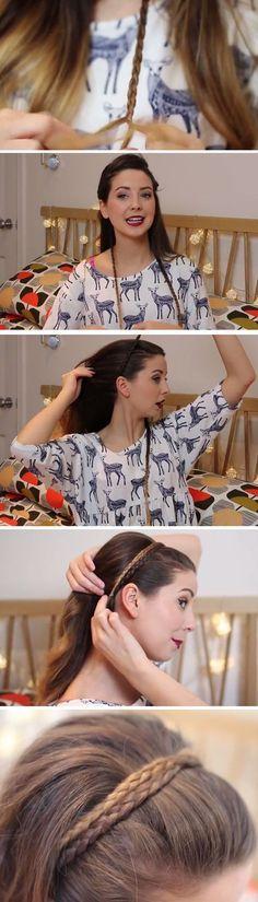¿Sabías que puedes hacer una diadema con tu propio cabello? | 19 Formas creativas de hacer tus propios accesorios para el pelo