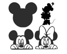 Mickey and Mini Mouse SVGs for Silhouette and Cricut