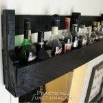 DIY Rustic Pallet Shelf Tutorial from PracticallyFunctional.net   DIY Rustic…